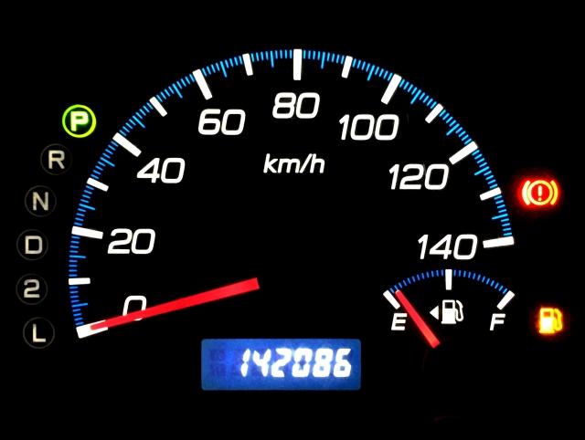 ハヤブサのガソリン残量がレッドゾーンに!どのくらい持つ?